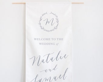 Calligraphy Wedding Welcome Banner