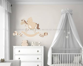 Rocking horse decal  Etsy