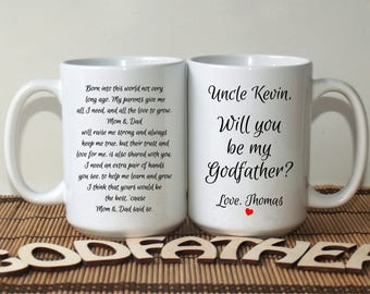 Will you be my Godfather, asking Godfather, Godfather invitation, Godfather to be, Baptism mug, Godfather gift, Godfather mug, Christening
