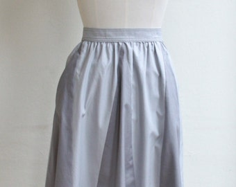 Grey Ziz Zag full Skirt