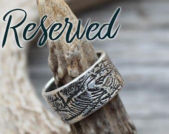 RESERVED, Custom Fingerprint Ring, Handmade Sterling Silver, Visible Faith