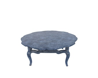 french provincial bluewhite coffee table blue white splatter coffee table coffe table painted
