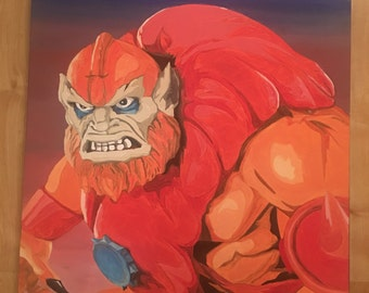 Beastman from HE-MAN and the masters of the universe painted on 60cm x 60cm boxed canvas motu