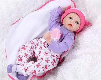 New Handmade Vinyl Silicone Reborn Baby Dolls Lifelike Doll Girl Gift 22''