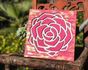 Laser cut, flower, floral, flower sign, wood sign, wood decor, Mother's Day, floral sign