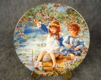 "Reco International Collectible Plate ""Patience"" Edition By Sandra Kuck"