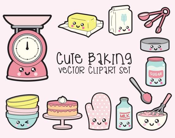 Baking Ingredients Clipart Premium Vector ...