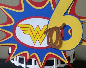 Wonder Woman Cake Topper, Wonder Woman Cake Decor, Wonder Woman Cake Smash, Wonder Woman Birthday, Wonder Woman, Girl Superhero