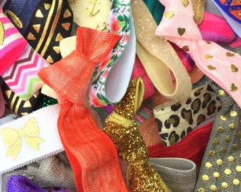 Bulk Hair Ties - Grab Bag of 50 Hair Ties / Hair Bands / Elastics - Promotional Gifts, Thank You Gifts, Variety, Mix, Bulk Order, Sales Rep