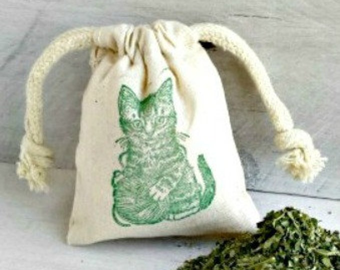 Organic Catnip Sachet, Organic Catnip, Gifts For Cats, Holiday Cat Gifts, Cat Toys, Catnip Bag, Kitty Nip, Catnip Toy, Gifts For Cats