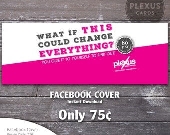 Plexus Facebook Cover Pink design - Instant Download