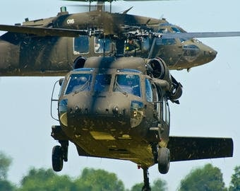 Military Helicopters Fine Art Print