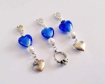 Something Blue Wedding Charms. Bouquet or Bracelet Charm. Gift. Wedding.