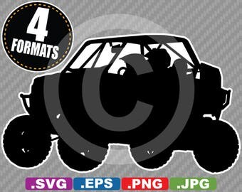 Polaris RZR Racing UTV Clip Art Image - SVG cutting file Plus eps (vector), jpg, & png - Instant Download - Die Cut Sticker/Decal