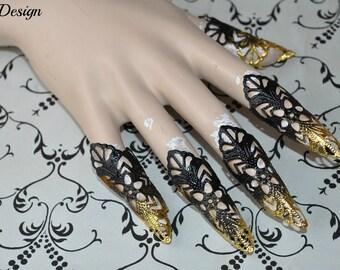 Fantasy Claws (black/ gold rhinestones)
