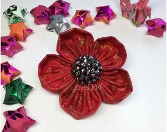 Poppy - Bella flower brooch