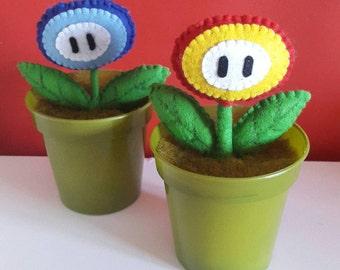 Handmade Plush Mario Flower Power Up