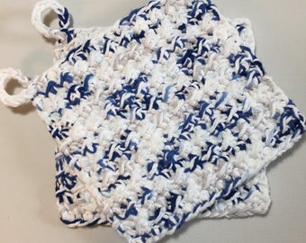 100% Cotton Hot Pads / Set of 2 / Pot Holders / Trivet