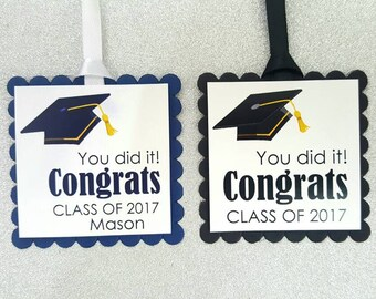 Graduation tags / school tags / graduation favor tags / graduation gift tags