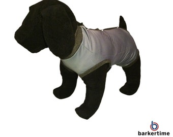 Charcoal PeeJama Dog E-Collar Alternative Recovery Suit - Great for Dogs and Cats