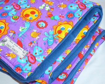 Sunshine baby blanket, Butterfly baby blanket, handmade baby blanket, baby girl blanket, baby pram blanket, Baby blanket, Cotton quilt