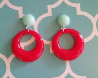 Fakelite two-tone small hoop earrings