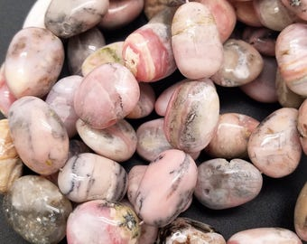 12 mm , 15 mm , 20 mm , Pink Peruvian Opal Free Form Nuggets , 16 Inch