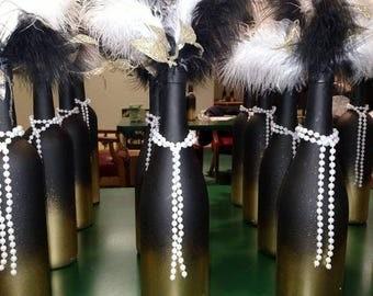 Great Gatsby Themed Wine Bottle