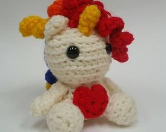 Unicorn Amigurumi, Crochet Unicorn Kawaii Pretend Play Toy