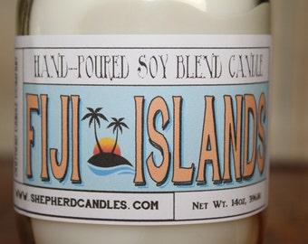 Summer Candle Scents, Beach Decor, Fiji Islands, Tropical Candle, Mason Jar Candle, Summer Decor, Soy Candles Handmade, Fresh Candles