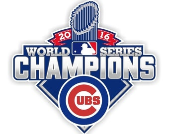 Chicago Cubs 2016 World Series Champions 3x4 Fridge Magnet