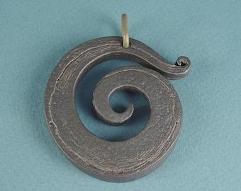 Titanium Pendant Spiral Of Life   ( #2E )