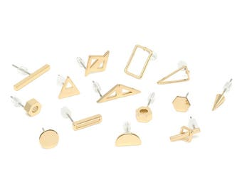 Stud Earrings. Mix and Match Stud Earrings. Gold Studs. Small Stud Earrings. Pick Your Own Pair.