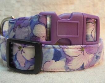 Purple Dog Collar / Lavender  Dog Collar / Violet Dog Collar / Pretty Dog Collar / Girl Dog Present / Soft  Collar / Little Dog Collar