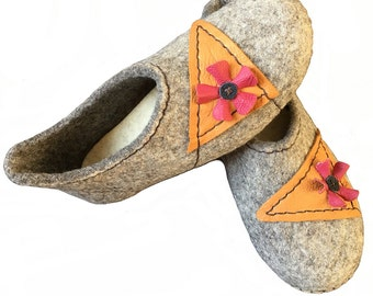 Felted Slippers - Eco Footwear - handmade felted slippers - gift for any occasion - gift for you and your loved one -  Eco Friendly organic