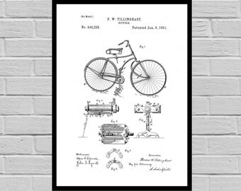 Bicycle Print, Bicycle Poster, Bicycle Patent, Bicycle Decor, Bicycle Art, Bicycle Blueprint, Bicycle Wall Art, Bicycle Gifts