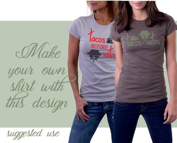Tacos before vatos t shirt design fcm svg png cut file for T shirt printing pasadena tx