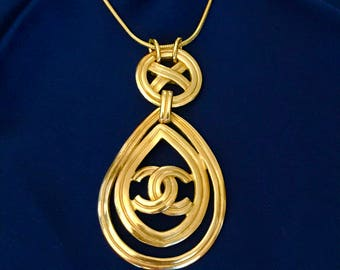 Necklace made with vintage re-purposed authentic Chanel earring