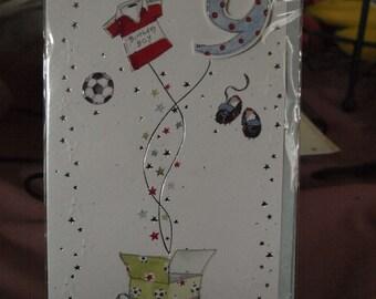 Boys 9 Today!  Birthday Card