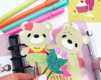SUMMER Planner clips/ Bookmarks