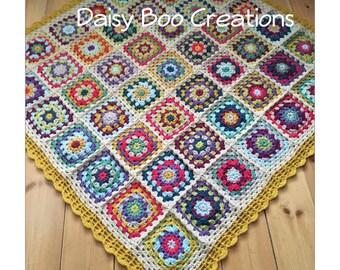Granny square throw / lap blanket