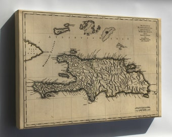 Canvas 24x36; Map Of Island Of Hispaniola 1768