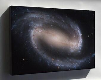 Canvas 24x36; Ngc 1300 Barred Spiral Galaxy Ngc 1300 Hst