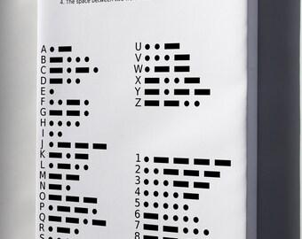 Canvas 24x36; International Morse Code Chart