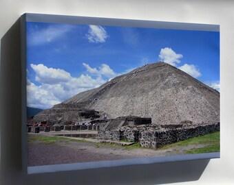 Canvas 24x36; Pyramid Of The Sun Pirámide Del Sol, Teotihuacán, México