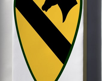 Canvas 16x24; 1St Cavalry Division - Shoulder Sleeve Insignia