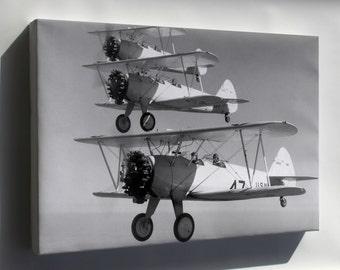 Canvas 16x24; Boeing-Stearman Ns-1 Bi-Plane 1936