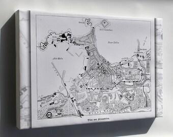 Canvas 16x24; Alexandria Map 1882