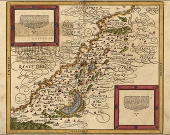 16x24 Poster; Map Of Holy Land Israel Palestine In German 1588