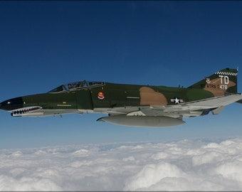 16x24 Poster; F-4 Phantom Ii Aircraft Over The Atlantic Ocean